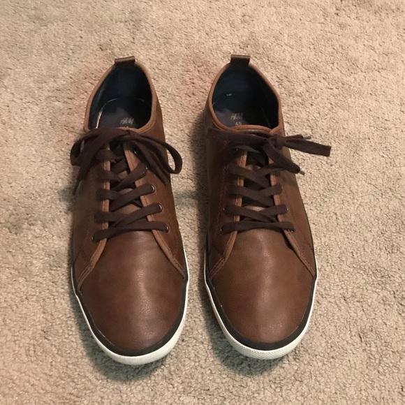 Hm Mens Low Top Brown Sneakers | Poshmark